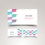 Business card set. Vector illustration for your design, eps10 3 layers, easy editable Stock Image