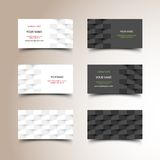 Business card set. Vector illustration for your design, eps10 3 layers, easy editable Royalty Free Stock Image