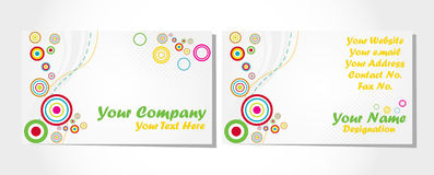 Business card set on white Stock Image