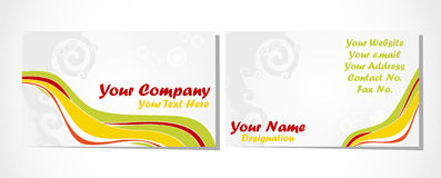 Business card set on white Royalty Free Stock Images