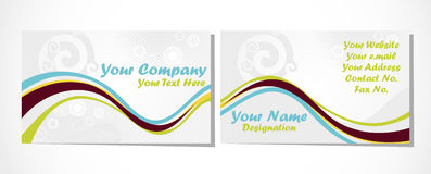 Business card set on white Stock Images