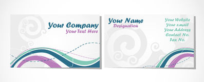 Business card set on white Royalty Free Stock Image
