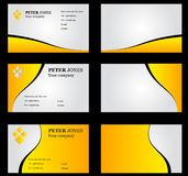 Business Card Set Yellow Royalty Free Stock Photos