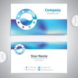Business card - ship window - marine Equipment Stock Images