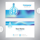 Business card - ships telegraph - captain's control room - symbo Stock Images