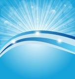 Business card show light rays. Illustration business card show light rays - vector Royalty Free Stock Photos
