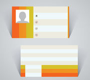 Business card, simple layout with colorful stripes Stock Photos
