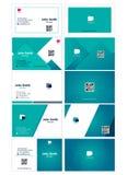 Business card simple modern design front back bundle stock illustration