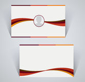 Business card, simple template with stripes Stock Photo