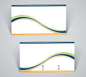 Business card, simple template with stripes Stock Image