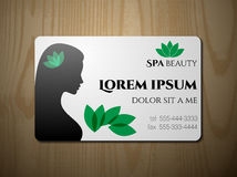 Business card for SPA salon Stock Photo
