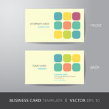 Business card square abstract background design layout template,. With bleed, vector eps10 Stock Photos