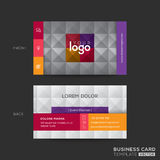 Business card with square tile pattern background Stock Photography