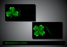 Business card St. Patricks Day Stock Photography