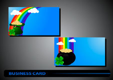 Business card St. Patricks Day Stock Images