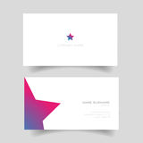 Business card with star shape Royalty Free Stock Photo