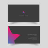 Business card with star shape Royalty Free Stock Photography