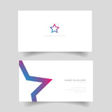 Business card with star shape Stock Photography
