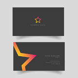 Business card with star shape Royalty Free Stock Image