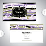 Business card with stars. Universal business card with stars Stock Photos