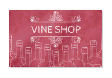 Business card or storefront for the sale of sparkling wines. Vector Royalty Free Stock Photos