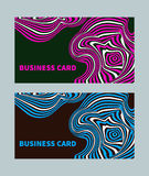 Business card style opt art Royalty Free Stock Image