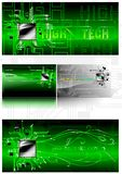 Business Card in IT-style. (Vector). Vector business card in the abstract style of IT. You can use as a background Royalty Free Stock Photos