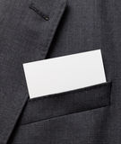 Business card in suit pocket Stock Image