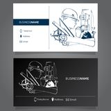Business Card Surveyor. Business card concept of Geodesy and Cartography Stock Images
