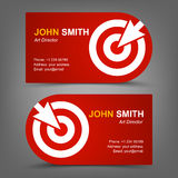 Business card. Target. Cursor Stock Image