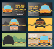 Business card taxi - fourth set. Vector 10eps Stock Image