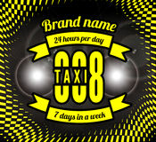 Business card taxi Stock Images