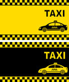 Business card with taxi sign Royalty Free Stock Photography