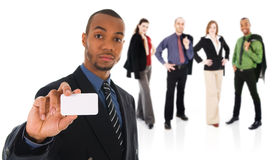 Business Card Team Stock Images