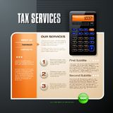 Business Card Template. Tax time business card vector Stock Image