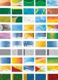 Business card template. 50 business card template vector Royalty Free Stock Photos