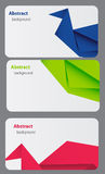Business Card Template. Abstract bsckground Stock Photos