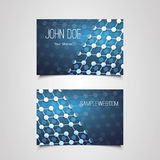 Business Card Template with Abstract Network Connections Pattern Design Stock Photography