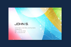 Business card template. Abstract triangle design Stock Photography
