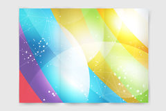 Business card template. Abstract triangle design Stock Photos