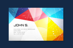 Business card template. Abstract triangle design Stock Image
