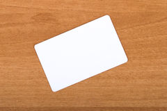 Business Card Template. Blank business card mock up on wood background royalty free stock photography