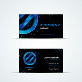 Business card template with blue sign Stock Images