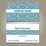 Business card template in blue and white colors. Royalty Free Stock Photography