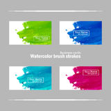 Business card template with brush strokes Stock Photography