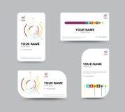 Business card template, business card layout design, vector illu Stock Photos