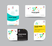Business card template, business card layout design, vector illu Stock Image