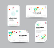 Business card template, business card layout design, vector illu Stock Images