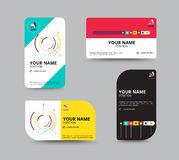 Business card template, business card layout design, vector illu Royalty Free Stock Photo