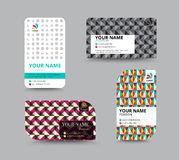Business card template, business card layout design, vector illu Royalty Free Stock Images